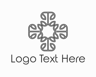 Religion - Floral Cross logo design