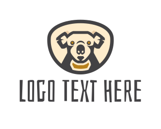 Aussie - Koala Head logo design