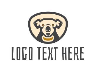Jungle - Koala Head logo design