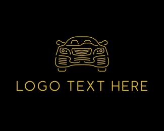 Sedan - Minimalist Sedan Car logo design