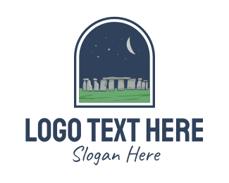 Tourist Attraction - Stonehenge Landmark logo design