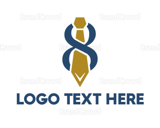Businessman - Abstract Tie Number 8 logo design