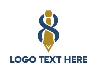 Tradesman - Abstract Tie Number 8 logo design