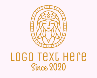 Tarot Card - Princess Beauty Queen logo design