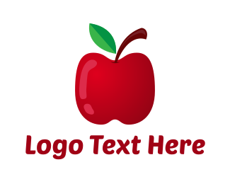 Apple Juice - Nutritional  Red Apple logo design