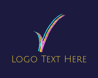 Tick - Colorful Check  logo design