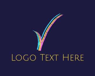Tick - Colorful Check  logo design