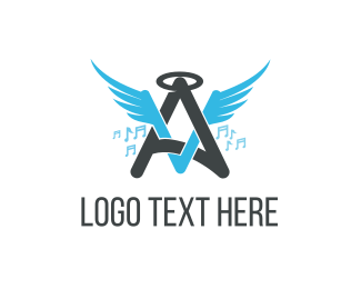 Angel - Angel Music logo design