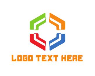 Diversity - Colorful Hexagon logo design