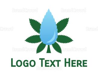 Cbd - Droplet Cannabis logo design
