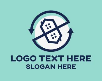 Flip - House Rotation logo design