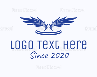 Feather - Blue Feathers  logo design