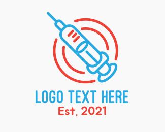 Medical Care - Medical Vaccination  logo design