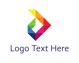 Purple Square - Colorful Diamonds logo design