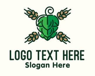 Bourbon - Barley Hops Brew logo design