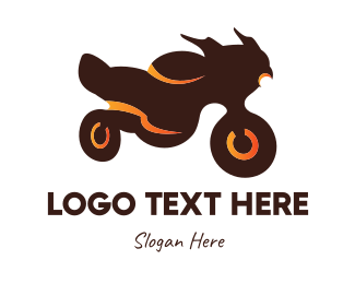 Moto - Brown Motorcycle logo design