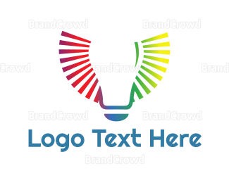 Bulb - Colorful Lighting logo design