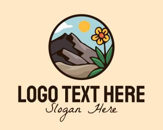 Tree - Sunflower Mountaineering Badge logo design