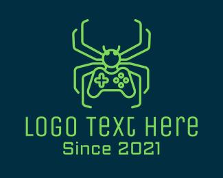Spider - Minimalist Gaming Spider  logo design
