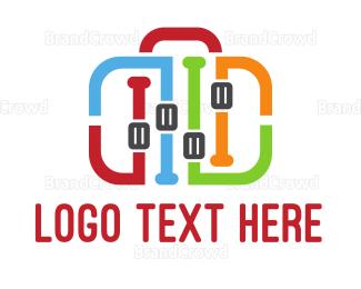 Bag - Equalizer Bag logo design