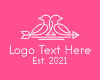 Wedding - Wedding Arrow Dove logo design