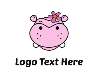Sem-es - Pink Hippo logo design