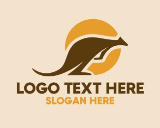 Kangaroo - Kangaroo Australian Outback logo design