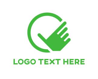 Finger - Green Hand logo design