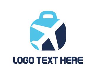 Pilot - Travel Luggage logo design