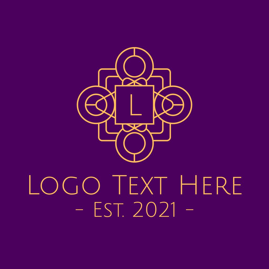 Elegant Ornamental Logo With The Letter S: Gold Stylish Letter Decoration Logo