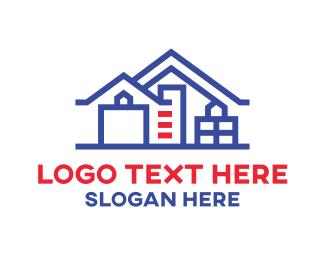 Builders - Builder Blue House logo design