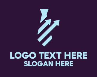 Management - Financial Tie Graph logo design
