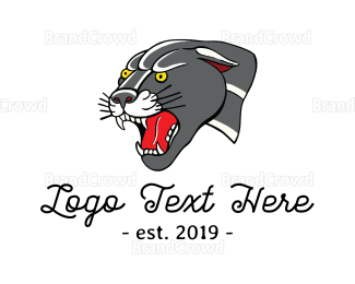 Aggressive - Panther Mascot logo design
