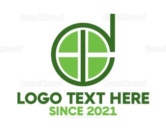 Tennis - Green Ball D logo design