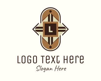 Indigenous - Tribal Shield Lettermark logo design
