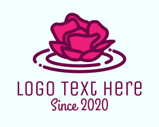 Shampoo - Pink Rose Pond logo design