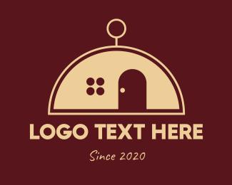 Tiny Home - Classic Dome House logo design