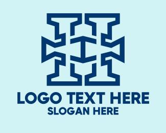 Modern Blue Letter H Logo