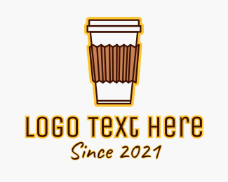 Brewed Coffee - Coffee Cup logo design