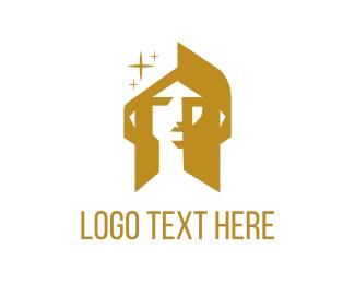 Golden Face Logo
