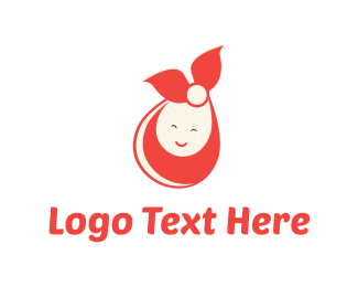 Boy And Girl - Happy Baby Wrap logo design