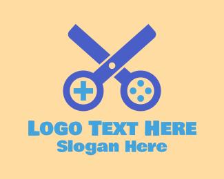 Cut - Gamer Scissors  logo design