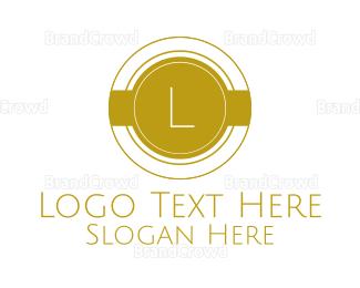 Condominium - Gold Round Lettermark logo design