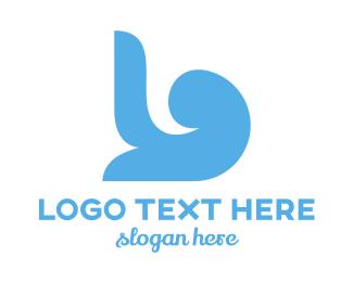 Baby Supplies - Blue Minimalist B logo design