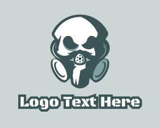 Gas Mask - Toxic Skull logo design