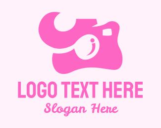 Vlogger - Pink Camera logo design