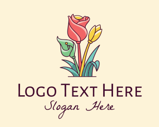 Flowers - Colorful Flower Decor logo design