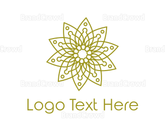 Buddhism - Modern Spa Leaf Outline logo design