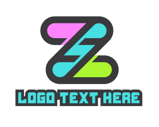 Manicure - Colorful Tech Letter Z logo design