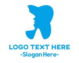 Dental Implant - Face & Tooth logo design